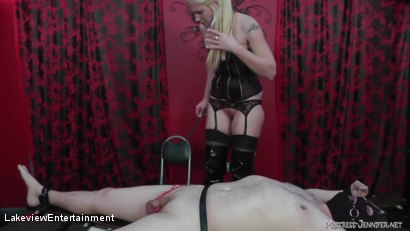 Photo number 3 from CBT Session shot for Lakeview Entertainment on Kink.com. Featuring Mistress Ariel and Slave David in hardcore BDSM & Fetish porn.