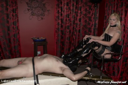Photo number 14 from CBT Session shot for Lakeview Entertainment on Kink.com. Featuring Mistress Ariel and Slave David in hardcore BDSM & Fetish porn.
