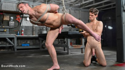 Photo number 9 from My Brother's Discipline: Michael DelRay Punishes Step-Bro Alex Mecum shot for Bound Gods on Kink.com. Featuring Michael DelRay and Alex Mecum in hardcore BDSM & Fetish porn.