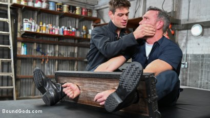 Photo number 1 from My Brother's Discipline: Michael DelRay Punishes Step-Bro Alex Mecum shot for Bound Gods on Kink.com. Featuring Michael DelRay and Alex Mecum in hardcore BDSM & Fetish porn.