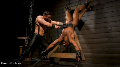 Photo number 12 from Fresh Muscle: Leather Clad Arad Winwin Punishes Newcomer Parker Payne shot for Bound Gods on Kink.com. Featuring Arad Winwin and Parker Payne in hardcore BDSM & Fetish porn.