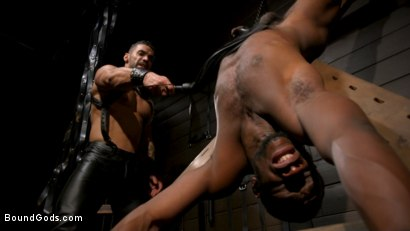 Photo number 13 from Fresh Muscle: Leather Clad Arad Winwin Punishes Newcomer Parker Payne shot for Bound Gods on Kink.com. Featuring Arad Winwin and Parker Payne in hardcore BDSM & Fetish porn.