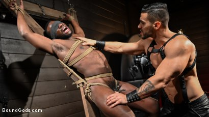 Photo number 6 from Fresh Muscle: Leather Clad Arad Winwin Punishes Newcomer Parker Payne shot for Bound Gods on Kink.com. Featuring Arad Winwin and Parker Payne in hardcore BDSM & Fetish porn.