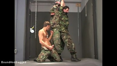 Photo number 18 from Soldier in the Dungeon: Special Training shot for Bound And Gagged on Kink.com. Featuring Michael Brandon, Jack Tufts, Leonardo Schiavino and Cameron Knight in hardcore BDSM & Fetish porn.