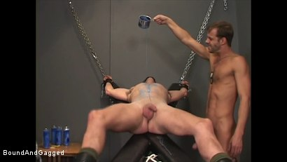 Photo number 5 from Soldier in the Dungeon: Special Training shot for Bound And Gagged on Kink.com. Featuring Michael Brandon, Jack Tufts, Leonardo Schiavino and Cameron Knight in hardcore BDSM & Fetish porn.