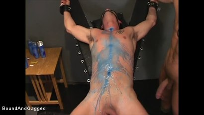 Photo number 6 from Soldier in the Dungeon: Special Training shot for Bound And Gagged on Kink.com. Featuring Michael Brandon, Jack Tufts, Leonardo Schiavino and Cameron Knight in hardcore BDSM & Fetish porn.