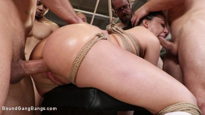 Photo number 15 from Whitney Wright Receives Stepdaddy's Discipline  shot for Bound Gang Bangs on Kink.com. Featuring Whitney Wright , Donny Sins, Robby Echo, Stirling Cooper , Eddie Jaye and Chad Diamond in hardcore BDSM & Fetish porn.