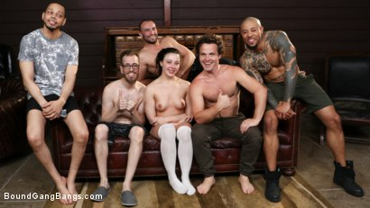 Photo number 33 from Whitney Wright Receives Stepdaddy's Discipline  shot for Bound Gang Bangs on Kink.com. Featuring Whitney Wright , Donny Sins, Robby Echo, Stirling Cooper , Eddie Jaye and Chad Diamond in hardcore BDSM & Fetish porn.