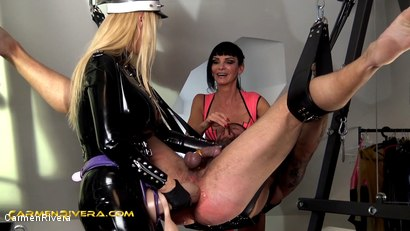 Photo number 8 from Penetrated by Queen Jennifer Carter and Carmen Rivera: No Pain No Gain shot for Carmen Rivera on Kink.com. Featuring Carmen Rivera, Queen Jennifer Carter and Colby Jansen in hardcore BDSM & Fetish porn.