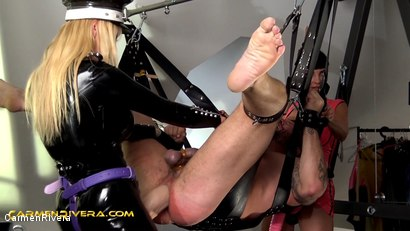 Photo number 10 from Penetrated by Queen Jennifer Carter and Carmen Rivera: No Pain No Gain shot for Carmen Rivera on Kink.com. Featuring Carmen Rivera, Queen Jennifer Carter and Colby Jansen in hardcore BDSM & Fetish porn.