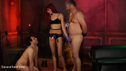 Photo number 13 from Dick-O-Rama Fun for Sub Slut Marcelo shot for Severe Sex Films on Kink.com. Featuring Andi Rye, Marcelo and Jimmy Broadway in hardcore BDSM & Fetish porn.