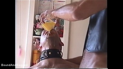 Photo number 1 from At Paul's House: Bound for Breakfast shot for Bound And Gagged on Kink.com. Featuring Lee Hassalo, Thomas Bond, Trey Hunter and Luke Sabre in hardcore BDSM & Fetish porn.