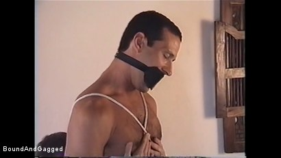 Photo number 12 from At Paul's House: Bound for Breakfast shot for Bound And Gagged on Kink.com. Featuring Lee Hassalo, Thomas Bond, Trey Hunter and Luke Sabre in hardcore BDSM & Fetish porn.