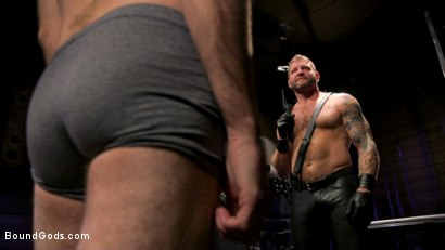 Photo number 15 from SEX RELIEF: New boy's self care is BDSM shot for Bound Gods on Kink.com. Featuring Colby Jansen and Buster Rhodes in hardcore BDSM & Fetish porn.