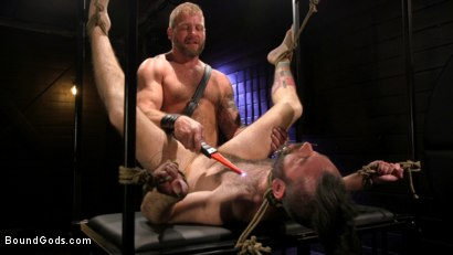 Photo number 3 from SEX RELIEF: New boy's self care is BDSM shot for Bound Gods on Kink.com. Featuring Colby Jansen and Buster Rhodes in hardcore BDSM & Fetish porn.