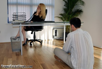 Photo number 1 from The Interview shot for Femme Fatale Films on Kink.com. Featuring Mistress Eleise de Lacy and Slave in hardcore BDSM & Fetish porn.