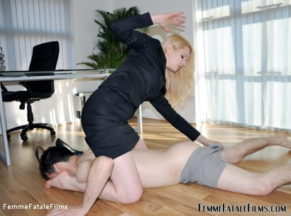 Photo number 2 from The Interview shot for Femme Fatale Films on Kink.com. Featuring Mistress Eleise de Lacy and Slave in hardcore BDSM & Fetish porn.