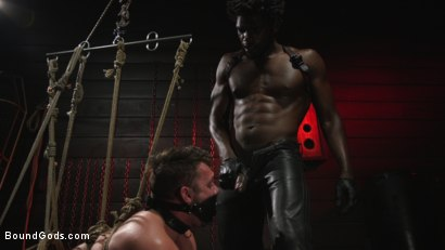 Photo number 8 from Good Slut Blaze Austin gets beaten and fucked by Hot Dom Devin Trez shot for Bound Gods on Kink.com. Featuring Devin Trez and Blaze Austin in hardcore BDSM & Fetish porn.