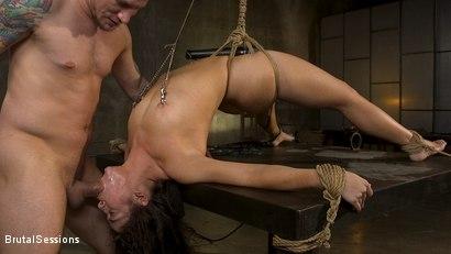 All Natural BDSM Slut Victoria Voxxx Rough Anal Brutal Bondage