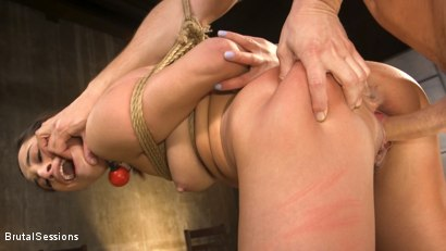 Tiny Sex Kitten Isabella Nice Submits in Rope Bondage and Anal Fucking