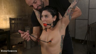 Photo number 1 from Joanna Angel Punished with Rope Bondage and Rough Anal shot for Brutal Sessions on Kink.com. Featuring Stirling Cooper  and Joanna Angel in hardcore BDSM & Fetish porn.