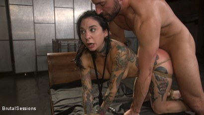 Photo number 17 from Joanna Angel Punished with Rope Bondage and Rough Anal shot for Brutal Sessions on Kink.com. Featuring Stirling Cooper  and Joanna Angel in hardcore BDSM & Fetish porn.