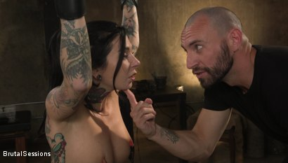 Photo number 3 from Joanna Angel Punished with Rope Bondage and Rough Anal shot for Brutal Sessions on Kink.com. Featuring Stirling Cooper  and Joanna Angel in hardcore BDSM & Fetish porn.