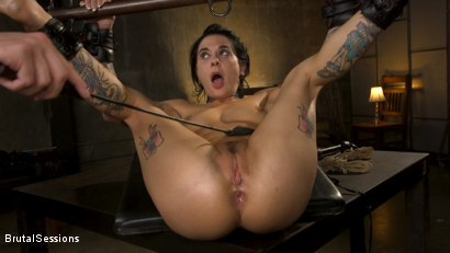Photo number 27 from Joanna Angel Punished with Rope Bondage and Rough Anal shot for Brutal Sessions on Kink.com. Featuring Stirling Cooper  and Joanna Angel in hardcore BDSM & Fetish porn.