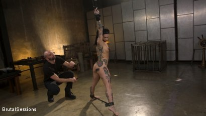 Photo number 5 from Joanna Angel Punished with Rope Bondage and Rough Anal shot for Brutal Sessions on Kink.com. Featuring Stirling Cooper  and Joanna Angel in hardcore BDSM & Fetish porn.
