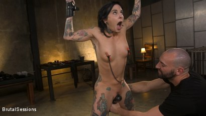 Photo number 9 from Joanna Angel Punished with Rope Bondage and Rough Anal shot for Brutal Sessions on Kink.com. Featuring Stirling Cooper  and Joanna Angel in hardcore BDSM & Fetish porn.