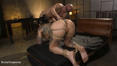 Photo number 10 from Joanna Angel Punished with Rope Bondage and Rough Anal shot for Brutal Sessions on Kink.com. Featuring Stirling Cooper  and Joanna Angel in hardcore BDSM & Fetish porn.