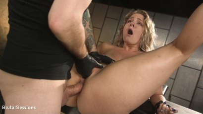 Photo number 16 from All Natural Blonde Babe Lisey Sweet Ass-Fucked and Abused in Bondage shot for Brutal Sessions on Kink.com. Featuring Tommy Pistol and Lisey Sweet in hardcore BDSM & Fetish porn.