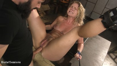 Photo number 17 from All Natural Blonde Babe Lisey Sweet Ass-Fucked and Abused in Bondage shot for Brutal Sessions on Kink.com. Featuring Tommy Pistol and Lisey Sweet in hardcore BDSM & Fetish porn.