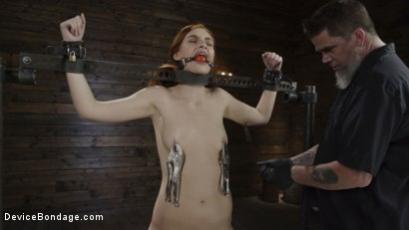 Photo number 5 from Red Head Slut Gets Destroyed in Diabolical Bondage shot for Device Bondage on Kink.com. Featuring Maya Kendrick in hardcore BDSM & Fetish porn.