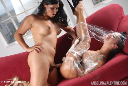 Photo number 12 from Angelina Valentine in Saran Wrapped by Vaniity! shot for Pornstar Platinum on Kink.com. Featuring Vaniity and Angelina Valentine in hardcore BDSM & Fetish porn.