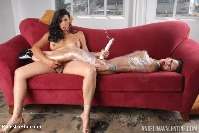 Photo number 8 from Angelina Valentine in Saran Wrapped by Vaniity! shot for Pornstar Platinum on Kink.com. Featuring Vaniity and Angelina Valentine in hardcore BDSM & Fetish porn.