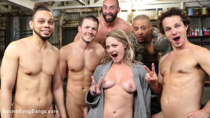 Photo number 16 from Whore Holes: Lisey Sweet gets all her slutty holes stuffed and fucked shot for Bound Gang Bangs on Kink.com. Featuring Lisey Sweet , Stirling Cooper , Donny Sins, Robby Echo, Codey Steele  and Eddie Jaye in hardcore BDSM & Fetish porn.