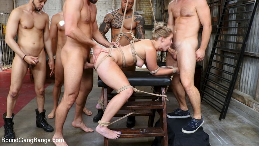 Download BoundGangBangs.com - Whore Holes: Lisey Sweet gets all her slutty holes stuffed and fucked - Kink