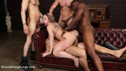 Photo number 13 from Dee Williams Gets Schooled: Big Tit Teacher Gets Stuffed Air Tight shot for Bound Gang Bangs on Kink.com. Featuring Dee Williams, Rob Piper, Donny Sins, Robby Echo, Codey Steele  and Mr. Pete in hardcore BDSM & Fetish porn.