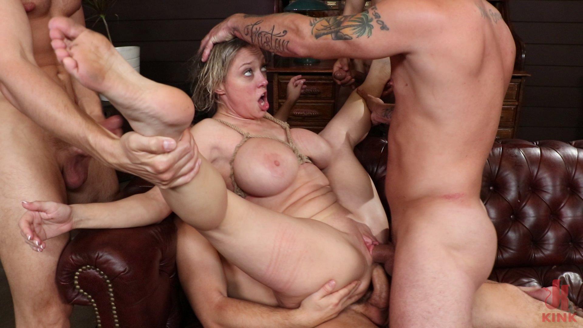 BoundGangBangs.com - Dee Williams Gets Schooled: Big Tit Teacher Gets Stuffed Air Tight - Kink