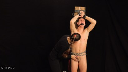 Photo number 4 from Helpless shot for cfnmeu on Kink.com. Featuring Pomstychtiva Pritelkyne and Martin Polnak in hardcore BDSM & Fetish porn.