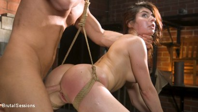 Photo number 13 from All Natural Pain Pig Keira Croft Squirts in Rope Bondage shot for Brutal Sessions on Kink.com. Featuring Seth Gamble and Keira Croft in hardcore BDSM & Fetish porn.