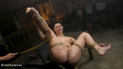 Photo number 16 from All Natural Pain Pig Keira Croft Squirts in Rope Bondage shot for Brutal Sessions on Kink.com. Featuring Seth Gamble and Keira Croft in hardcore BDSM & Fetish porn.