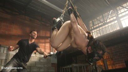 Photo number 3 from All Natural Pain Pig Keira Croft Squirts in Rope Bondage shot for Brutal Sessions on Kink.com. Featuring Seth Gamble and Keira Croft in hardcore BDSM & Fetish porn.