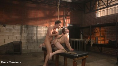 Photo number 9 from All Natural Pain Pig Keira Croft Squirts in Rope Bondage shot for Brutal Sessions on Kink.com. Featuring Seth Gamble and Keira Croft in hardcore BDSM & Fetish porn.