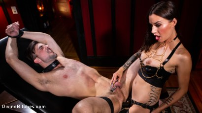 Photo number 14 from The House Slave: Gia DiMarco Brings Mason Lear Out to Play shot for Divine Bitches on Kink.com. Featuring Gia DiMarco and Mason Lear in hardcore BDSM & Fetish porn.