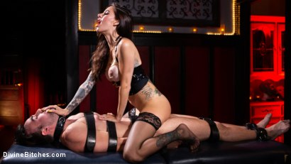 Photo number 18 from The House Slave: Gia DiMarco Brings Mason Lear Out to Play shot for Divine Bitches on Kink.com. Featuring Gia DiMarco and Mason Lear in hardcore BDSM & Fetish porn.