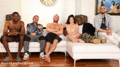 Photo number 25 from Out With A Bang: Victoria Voxxx's Firework Party Busted on 4th of July shot for Bound Gang Bangs on Kink.com. Featuring Victoria Voxxx, Rob Piper, Mr. Pete, Donny Sins, Stirling Cooper  and Rod Jackson in hardcore BDSM & Fetish porn.