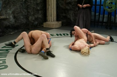 Photo number 10 from TAG TEAM  <BR>Vendetta & The Goddess<br> vs <br> Rogue & The Badger shot for Ultimate Surrender on Kink.com. Featuring Vendetta, Amber Rayne, Alexa Von Tess and Isis Love in hardcore BDSM & Fetish porn.