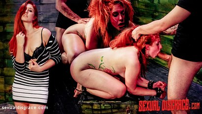 BDSM Slut Rose Red Tyrell Endures Rough Anal Sex